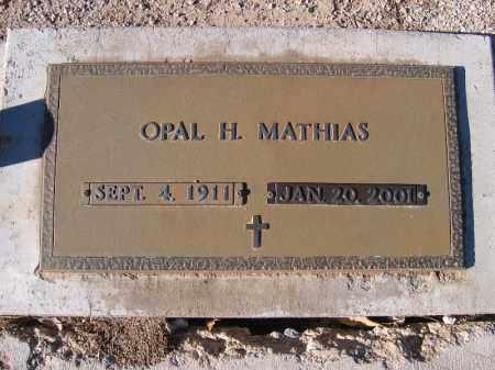 MATHIAS, OPAL H. - Mohave County, Arizona | OPAL H. MATHIAS - Arizona Gravestone Photos
