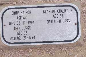 JUNGE, JOHN - Mohave County, Arizona | JOHN JUNGE - Arizona Gravestone Photos