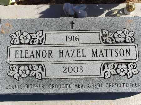 MATTSON, ELEANOR HAZEL - Mohave County, Arizona | ELEANOR HAZEL MATTSON - Arizona Gravestone Photos