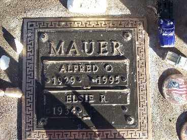 MAUER, ALFRED O. - Mohave County, Arizona | ALFRED O. MAUER - Arizona Gravestone Photos