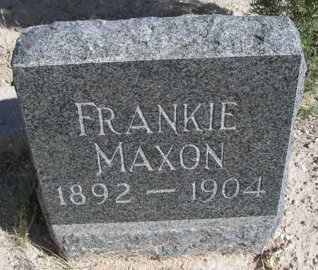 MAXON, FRANKIE - Mohave County, Arizona | FRANKIE MAXON - Arizona Gravestone Photos