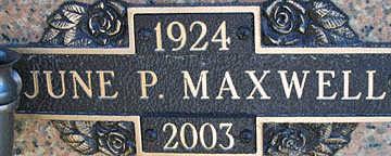 MAXWELL, JUNE P - Mohave County, Arizona | JUNE P MAXWELL - Arizona Gravestone Photos