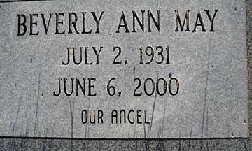 MAY, BEVERLY ANN - Mohave County, Arizona | BEVERLY ANN MAY - Arizona Gravestone Photos