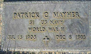 MAYHER, PATRICK C - Mohave County, Arizona | PATRICK C MAYHER - Arizona Gravestone Photos