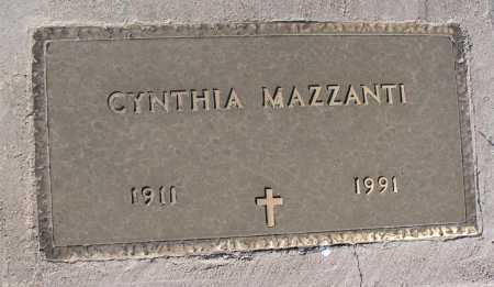 MAZZANTI, CYNTHIA - Mohave County, Arizona | CYNTHIA MAZZANTI - Arizona Gravestone Photos