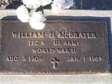 MCBRAYER, WILLIAM H. - Mohave County, Arizona   WILLIAM H. MCBRAYER - Arizona Gravestone Photos