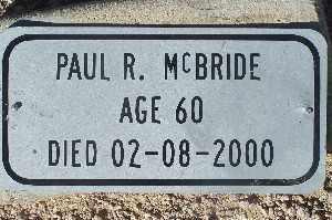 MCBRIDE, PAUL R - Mohave County, Arizona | PAUL R MCBRIDE - Arizona Gravestone Photos