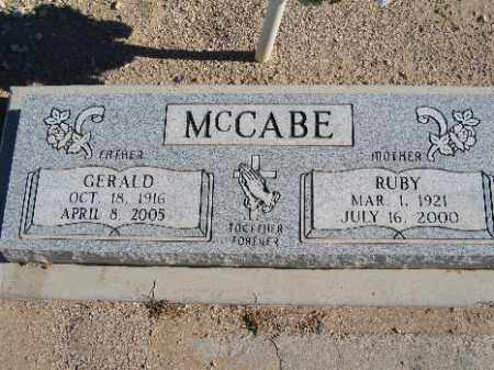 MCCABE, GERALD - Mohave County, Arizona | GERALD MCCABE - Arizona Gravestone Photos