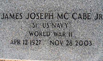 MCCABE JR., JAMES JOSEPH - Mohave County, Arizona | JAMES JOSEPH MCCABE JR. - Arizona Gravestone Photos