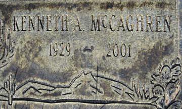 MCCAGHREN, KENNETH A - Mohave County, Arizona | KENNETH A MCCAGHREN - Arizona Gravestone Photos