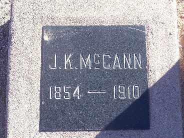 MCCANN, J. K. - Mohave County, Arizona   J. K. MCCANN - Arizona Gravestone Photos