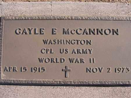 MCCANNON, GAYLE E. - Mohave County, Arizona | GAYLE E. MCCANNON - Arizona Gravestone Photos