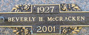 MCCRACKEN, BEVERLY H - Mohave County, Arizona | BEVERLY H MCCRACKEN - Arizona Gravestone Photos