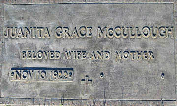 MCCULLOUGH, JUANITA GRACE - Mohave County, Arizona | JUANITA GRACE MCCULLOUGH - Arizona Gravestone Photos