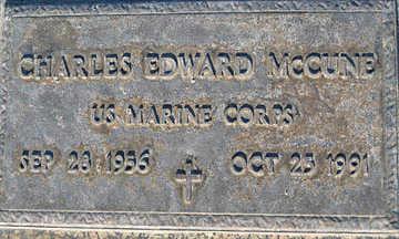 MCCUNE, CHARLES EDWARD - Mohave County, Arizona   CHARLES EDWARD MCCUNE - Arizona Gravestone Photos