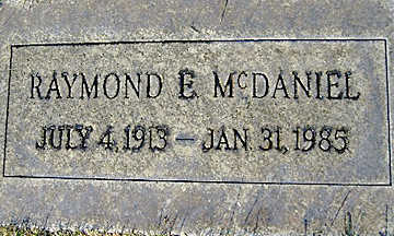 MCDANIEL, RAYMOND E - Mohave County, Arizona | RAYMOND E MCDANIEL - Arizona Gravestone Photos