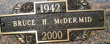 MCDERMID, BRUCE H - Mohave County, Arizona | BRUCE H MCDERMID - Arizona Gravestone Photos