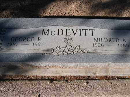 MCDEVITT, MILDRED A. - Mohave County, Arizona | MILDRED A. MCDEVITT - Arizona Gravestone Photos