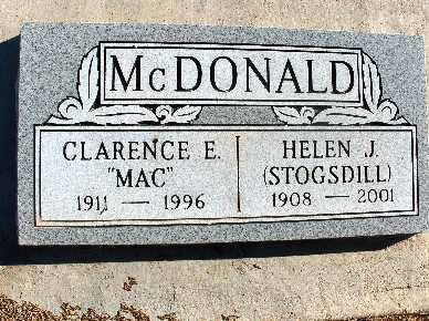 STOGSDILL MCDONALD, HELEN J. - Mohave County, Arizona | HELEN J. STOGSDILL MCDONALD - Arizona Gravestone Photos