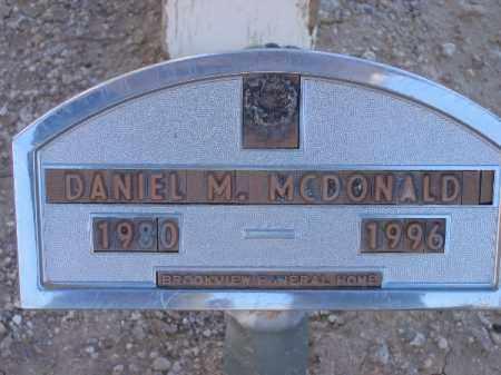 MCDONALD, DANIEL M. - Mohave County, Arizona   DANIEL M. MCDONALD - Arizona Gravestone Photos