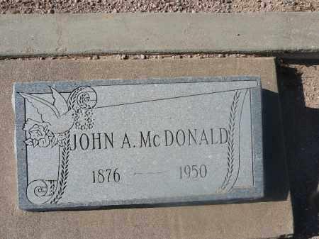 MCDONALD, JOHN A - Mohave County, Arizona | JOHN A MCDONALD - Arizona Gravestone Photos