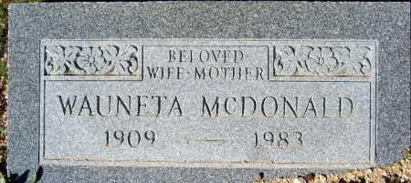 MCDONALD, WAUNETA - Mohave County, Arizona | WAUNETA MCDONALD - Arizona Gravestone Photos