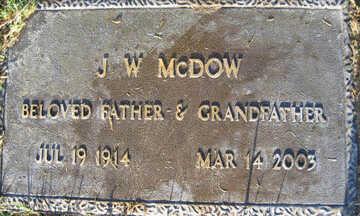 MCDOW, J. W. - Mohave County, Arizona | J. W. MCDOW - Arizona Gravestone Photos
