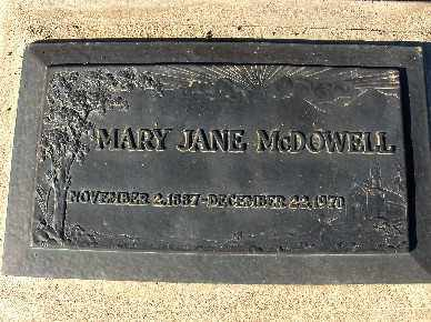 MCDOWELL, MARY JANE - Mohave County, Arizona | MARY JANE MCDOWELL - Arizona Gravestone Photos