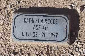 MCGEE, KATHLEEN - Mohave County, Arizona | KATHLEEN MCGEE - Arizona Gravestone Photos