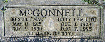 MCGONNELL, BETTY LAMBETH - Mohave County, Arizona | BETTY LAMBETH MCGONNELL - Arizona Gravestone Photos