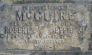 MCGUIRE, EFFIE M - Mohave County, Arizona | EFFIE M MCGUIRE - Arizona Gravestone Photos