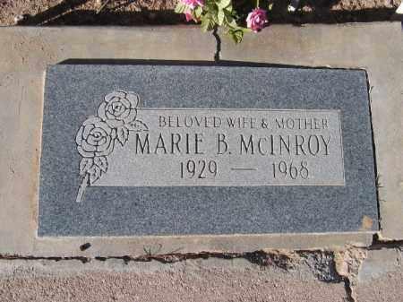 MCINROY, MARIE B. - Mohave County, Arizona | MARIE B. MCINROY - Arizona Gravestone Photos
