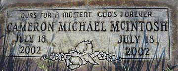 MCINTOSH, CAMERON MICHAEL - Mohave County, Arizona | CAMERON MICHAEL MCINTOSH - Arizona Gravestone Photos