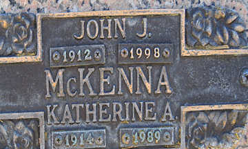 MCKENNA, JOHN J - Mohave County, Arizona | JOHN J MCKENNA - Arizona Gravestone Photos