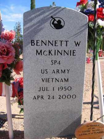 MCKINNIE, BENNETT W. - Mohave County, Arizona | BENNETT W. MCKINNIE - Arizona Gravestone Photos