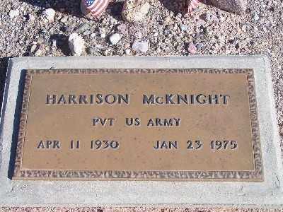 MCKNIGHT, HARRISON - Mohave County, Arizona | HARRISON MCKNIGHT - Arizona Gravestone Photos