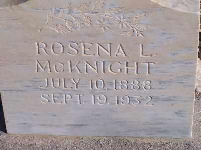 MCKNIGHT, ROSENA L - Mohave County, Arizona   ROSENA L MCKNIGHT - Arizona Gravestone Photos