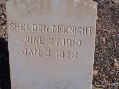 MCKNIGHT, SHELDON - Mohave County, Arizona   SHELDON MCKNIGHT - Arizona Gravestone Photos
