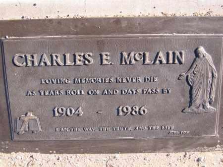 MCLAIN, CHARLES E. - Mohave County, Arizona | CHARLES E. MCLAIN - Arizona Gravestone Photos