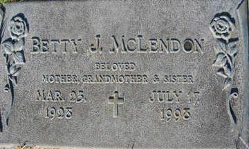 MCLENDON, BETTY J - Mohave County, Arizona | BETTY J MCLENDON - Arizona Gravestone Photos