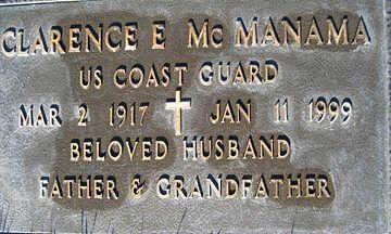 MCMANAMA, CLARENCE E - Mohave County, Arizona | CLARENCE E MCMANAMA - Arizona Gravestone Photos