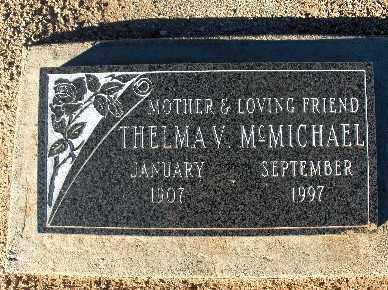MCMICHAEL, THELMA V. - Mohave County, Arizona | THELMA V. MCMICHAEL - Arizona Gravestone Photos
