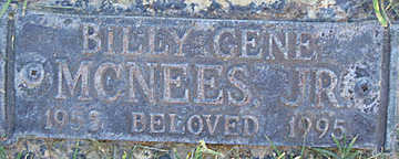 MCNEES JR., BILLY GENE - Mohave County, Arizona | BILLY GENE MCNEES JR. - Arizona Gravestone Photos