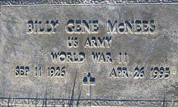 MCNEES SR., BILLY GENE - Mohave County, Arizona | BILLY GENE MCNEES SR. - Arizona Gravestone Photos