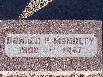 MCNULTY, DONALD F - Mohave County, Arizona | DONALD F MCNULTY - Arizona Gravestone Photos