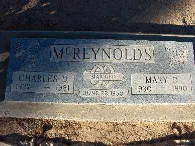 MCREYNOLDS, CHARLES D. - Mohave County, Arizona | CHARLES D. MCREYNOLDS - Arizona Gravestone Photos