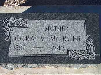 MCRUER, CORA V. - Mohave County, Arizona   CORA V. MCRUER - Arizona Gravestone Photos