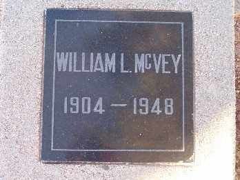 MCVEY, WILLIAM L. - Mohave County, Arizona   WILLIAM L. MCVEY - Arizona Gravestone Photos