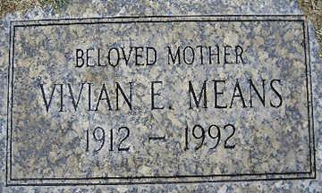 MEANS, VIVIAN E - Mohave County, Arizona   VIVIAN E MEANS - Arizona Gravestone Photos