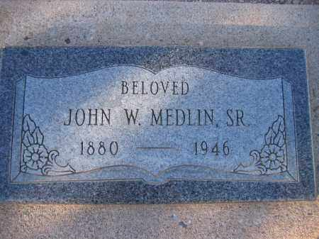 MEDLIN SR, JOHN W. - Mohave County, Arizona | JOHN W. MEDLIN SR - Arizona Gravestone Photos